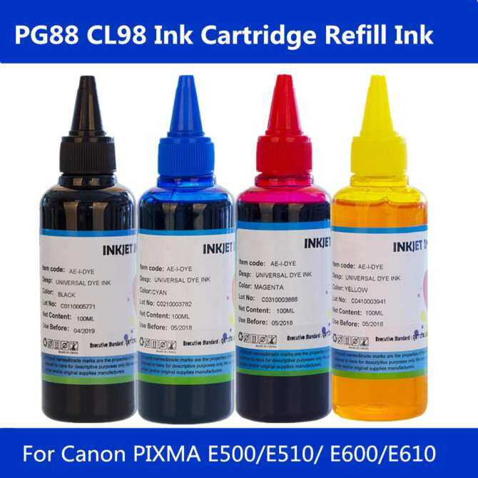 PG88 CL98 Ink Cartridge Refill Printer Ink Ciss Ink for Canon Printer 100ml*4C - intl