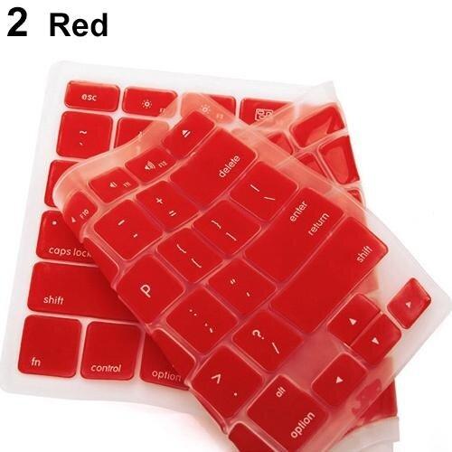 Phoenix B2C Penutup Keyboard Silikon Wadah Lapisan Pelindung Cover untuk Apple MacBook Pro Laptop (Merah