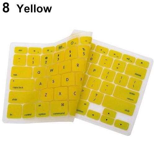 Phoenix B2C Penutup Keyboard Silikon Wadah Lapisan Pelindung Cover untuk Apple MacBook Pro Laptop (Kuning