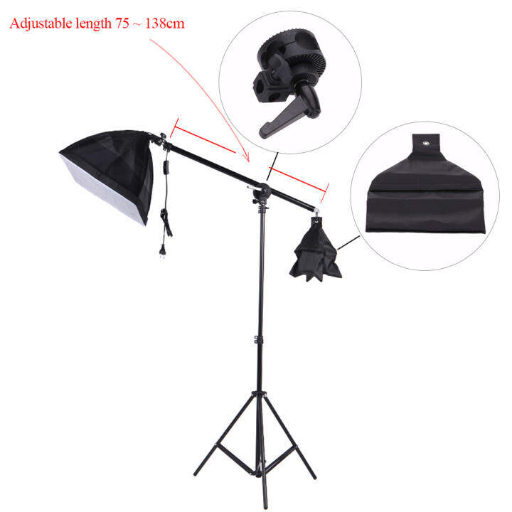 Photo Studio Overhead Boom Arm Top Light Stand For Softbox
