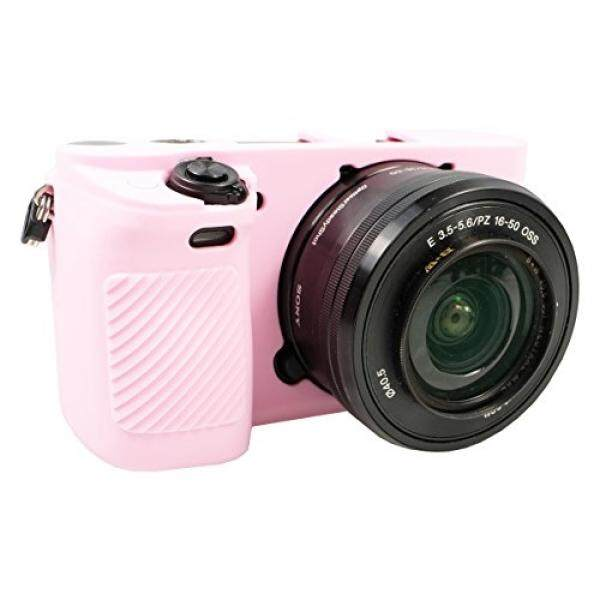 PhotoTrust Pink Silicone Case Soft Protective Skin For Sony Alpha A6300 A6000 Fits All Lens -