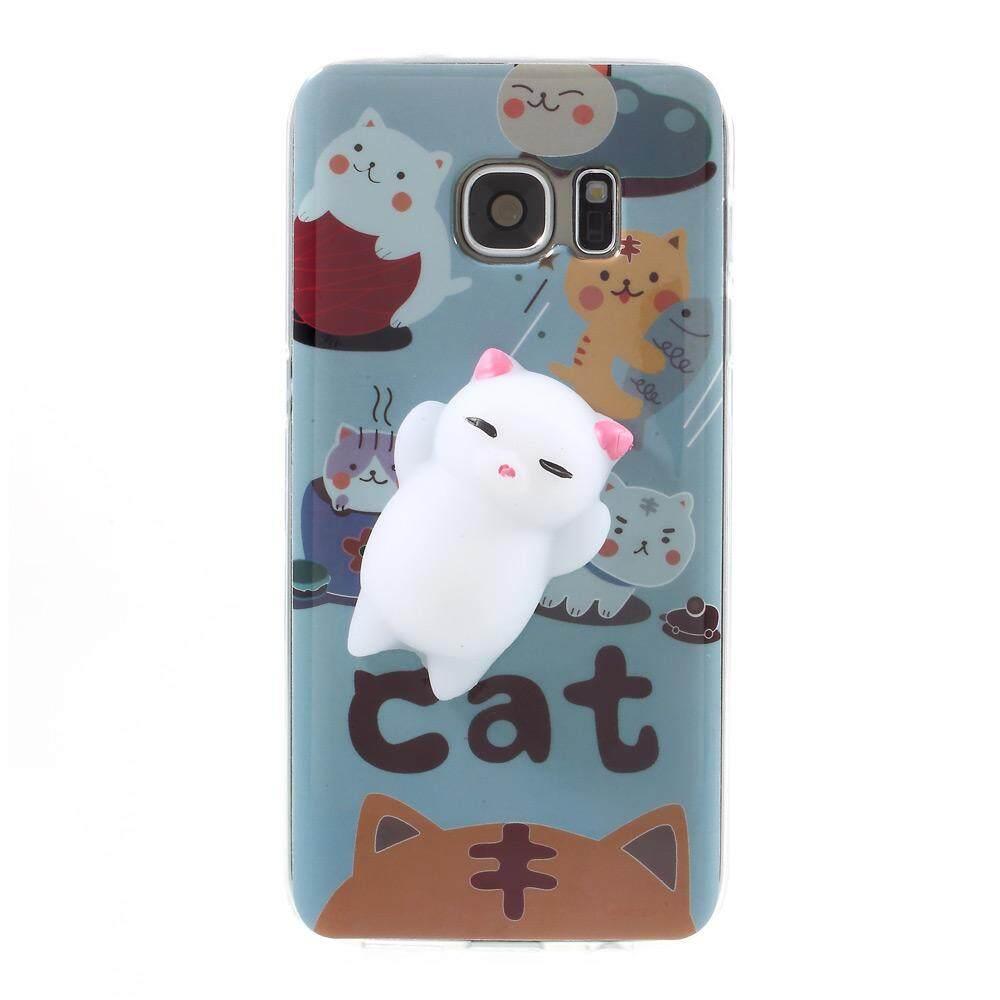 Pinch 3D Silicone Squishy Soft Cat TPU Case for Samsung Galaxy S7 SM-G930 -