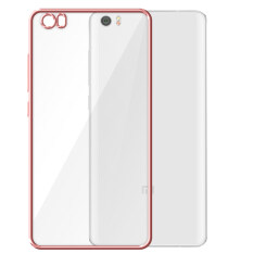 MYR 15 PinTo Electroplating Transparent soft Silicone TPU Case case For Xiaomi Redmi Note with HD Screen Protector -Transparent Rose goldMYR15