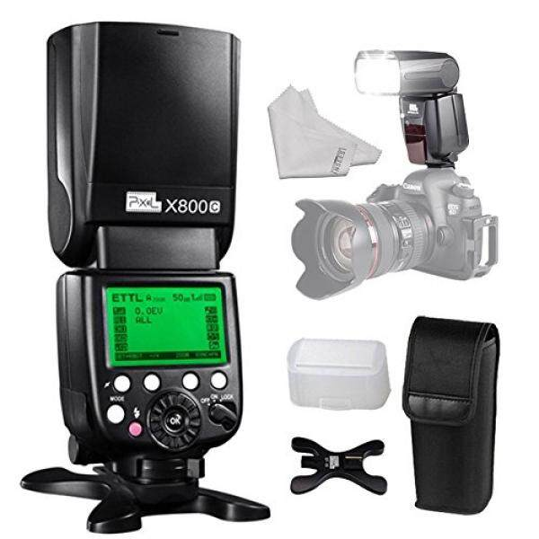 PIXEL E-TTL HSS Wireless Speedlite Flash Come with Stand Diffuser INSEESI Clean Cloth For Canon Eos Digital SLR Camera 5D Mark IV III 6D 7D II 80D 70D 60D 760D 750D 700D 650D 600D 550D 500D 450D 6D 7D - intl