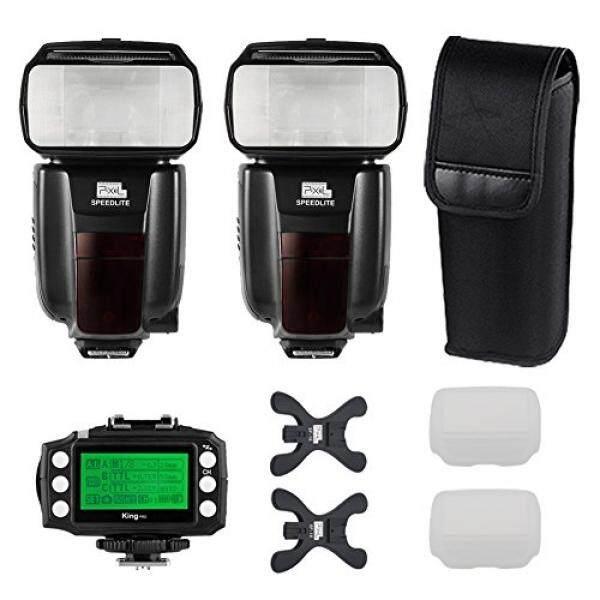 Pixel M8 2 Pcs GN60 Kinerja Tinggi Nirkabel Flash Speedlite Kit + Pixel King Pro Transceiver untuk Nikon D800 D700 D300 d200 D3 D90 D600 D3000 D5000 D7000 Kamera DSLR-Intl