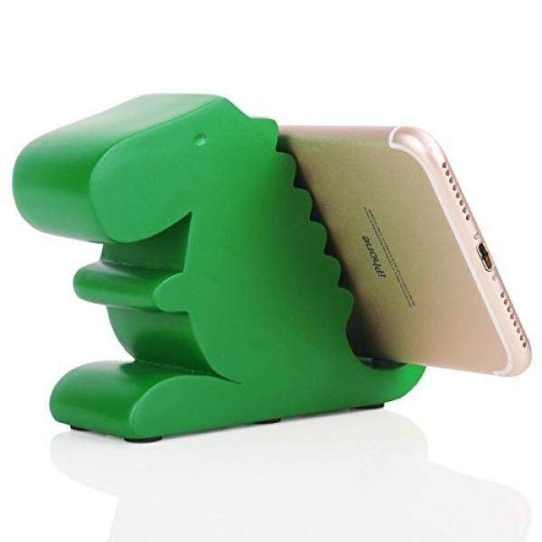 Plinrise Plinrise Resin Art Craft Cute Tyrannosaurus Dinosaur Desktop Cell Phone Stand Mounts,Decorative Candy Color Animal Dino Creative Smart Phone Holder For iPhone iPad Samsung Tablet Kindle - Green - intl