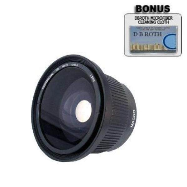 PLR .42x HD Super Wide Angle Fisheye Lens For The Nikon 1 J1, J2, J3, J4, V1, V2, V3, AW1, S2, S1 Digital SLR Cameras Which Have Any Of These (10-30mm, 30-110mm, 10mm) Nikon 1 Lenses - intl
