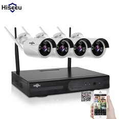Plug And Play 4ch 1080p Hd Wireless Nvr Kit P2p 720p Waterproof Outdoor Ir Security Ip Camera Wifi Home Cctv System Set By Evkvo.