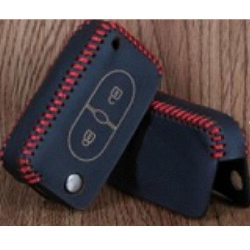 Yushong Polarlander Jahit Tangan Kunci Mobil Asli Kulit Kasus Buatan Tangan Keycover 144A Cocok untuk Volvo XC60.S60L. s60.V60.15 S80L-Internasional