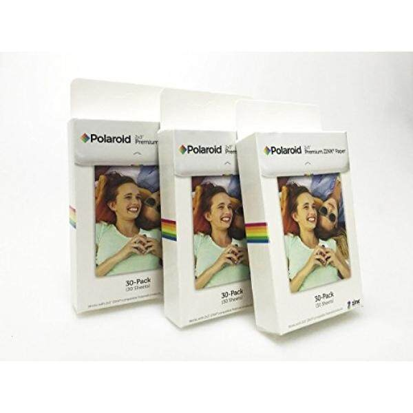 Polaroid 2X3 Zoll Premium Zink Fotopapier Kit 3 Packungen (90 Blatt)? Kompatibel MIT Jepretan Polaroid, Z2300, Socialmatic Kamera Instan Und Zip Instan Printer-Intl