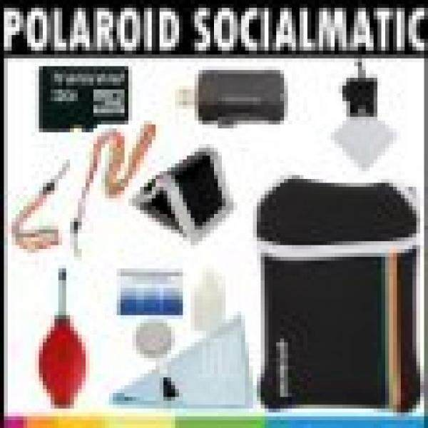 Polaroid Premium ESSENTIAL KIT For The Polaroid Socialmatic 14MP Wi-Fi Digital Instant Print & Share Camera - Great Holiday Add On Gift - intl