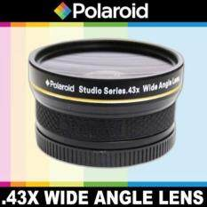 Polaroid Studio Series .43x High Definition Wide Angle Lens With Macro Attachment, Includes Lens Pouch and Cap Covers For The Olympus Evolt E-30, E-300, E-330, E-410, E-420, E-450, E-500, E-510, E-520, E-600, E-620, E-1, E-3, E-5 Digital SLR Cameras