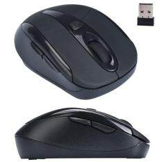 Portable 2.4G Wireless Optical Mouse Mice For Computer PC Laptop Black Malaysia