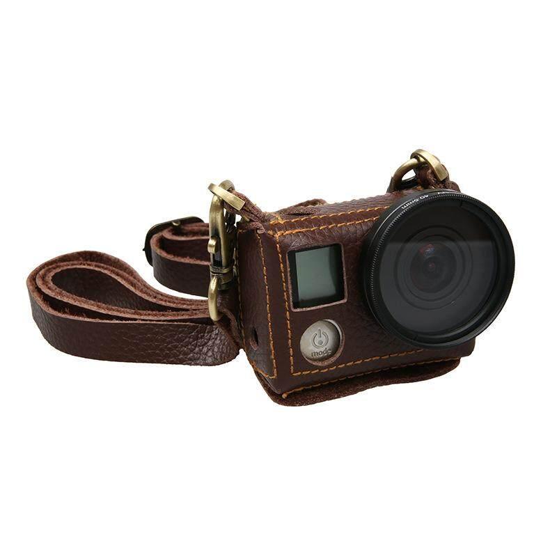 Portabel Kulit Sampul Tas untuk Kamera Aksi GOPRO HERO 4 Silver dengan 40.5 Mm Lensa UV Kit-Intl