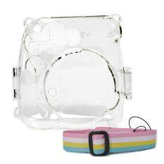 Portable Protective Case Accessory Cover Plastic Storage Bag With Removable Adjustable Shoulder Strap For Fujifilm Instax Mini 9 8 8+ Model Instant Cameras Clear By Stoneky.