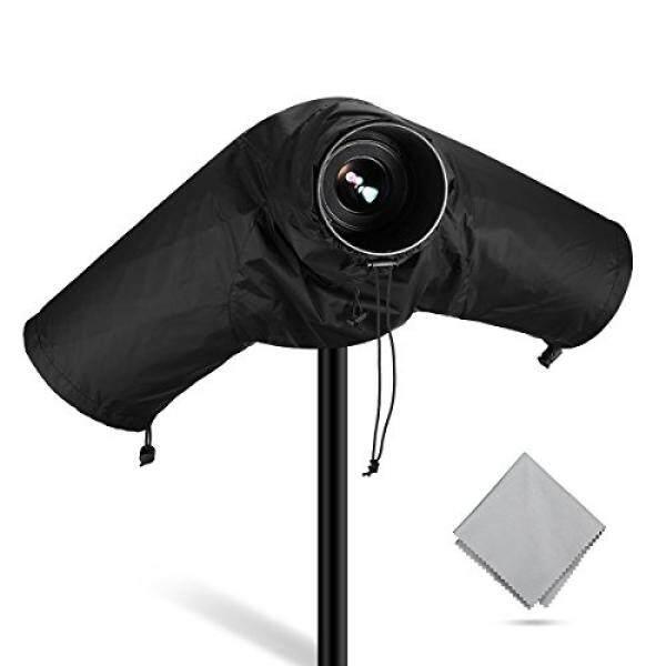 Profesional Powerextra Anti-Air Kamera Hujan Sarung Pelindung untuk Canon Nikon Sony Pentax dan Kamera Digital SLR Lainnya, bagus untuk Hujan KOTORAN Pasir Salju Perlindungan (Hitam)-Internasional
