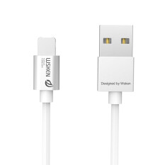 Practical WSKEN 2 in 1 Micro USB Lightning Charger Braided Cable For iPhone & Samsung Silver