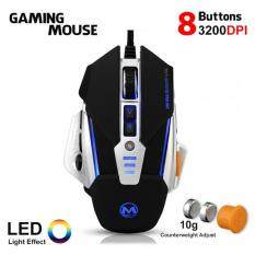 PRADO Metal Gaming Mouse 8 Button 3200 DPI LED Optical Wired USB MZ-23 Professional Gaming - Black Color CL-MZ-23-BK Malaysia