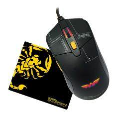Scorpion 5 RGB Gaming Mouse 4800CPI (Free Gaming Mousemat) by Armaggeddon Malaysia