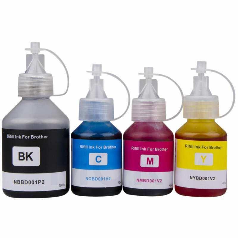 Printer Isi Ulang Tinta Tinta Kompatibel untuk Saudara DCP-T300 DCP-500W DCP-T700W DCP-T800W Isi Ulang Tangki Tinta Sistem Printer BK 100 Ml C/M/Y 42 ml-Intl