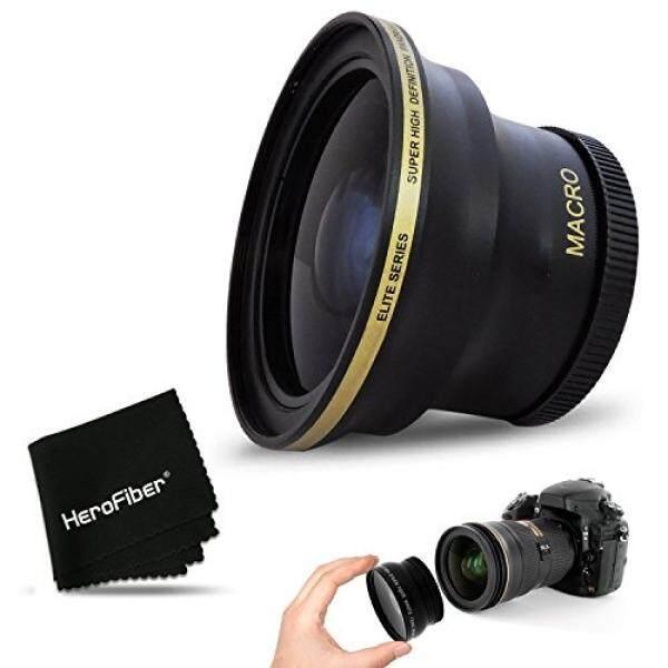 PRO 58MM Fisheye Lens for CANON EOS 80D, 70D, 60D, 7D Mark II, 6D, 5D Mark III, EOS REBEL T7i, T6i, T6S, T6, T5, T5i T4i T3, EOS 1300D, 1200D, 1100D EOS 760D, 750D, 700D DSLR Cameras and 58mm Lenses - intl