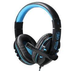 PRO USB Stereo Headphone Mikrofon dengan MIC GAME Gaming Headset untuk PS3 Laptop Biru