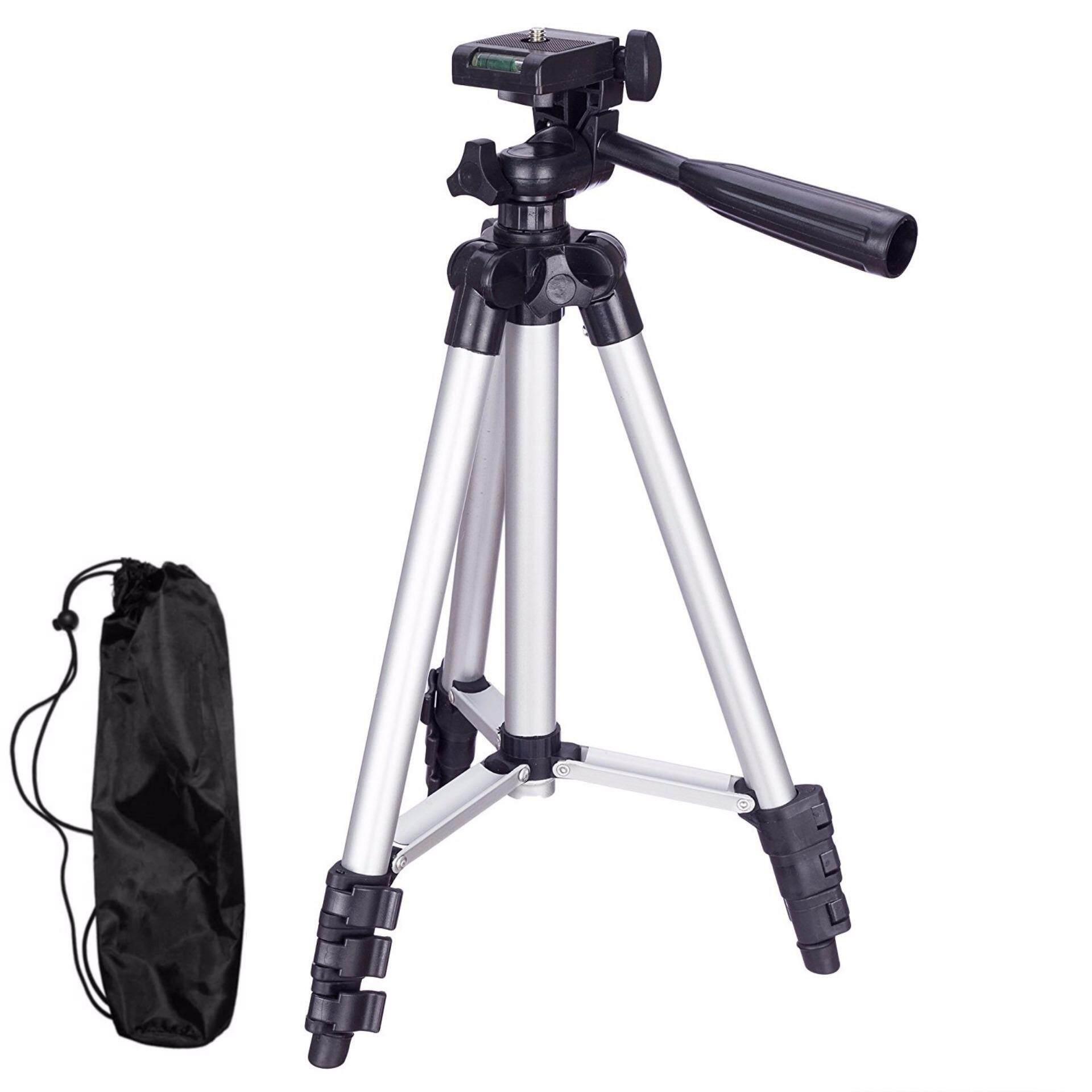 Profesional Adjustable Portable Bahan Aluminium untuk Bepergian Tripod Kamera Pan Kepala untuk SLR DSLR Digital Dudukan
