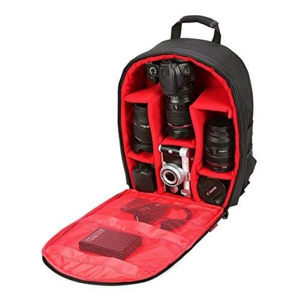 Profesional Ransel Kamera Tahan Air untuk DSLR/Kamera SLR (Canon, Nikon, Sony dan Lain-Lain), Tripod, berkedip, Lensa dan Aksesoris # A1705 Merah-Intl