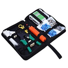 Professional Network Computer Maintenance Repair Kit Cross Flat Screwdriver Crimping Pliers Tool Set By Beffen.
