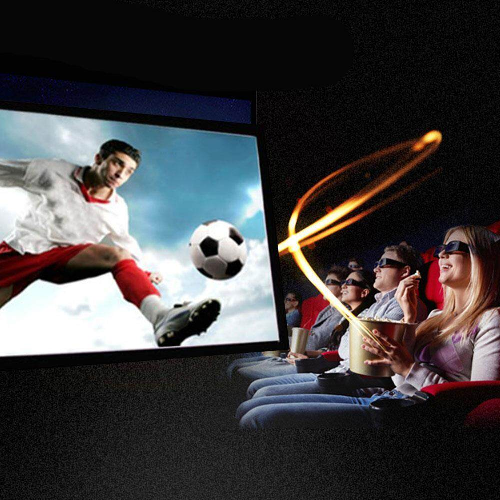 Projector Screen Projection Curtain Portable 16:9 60 Inch School Video Projection - intl