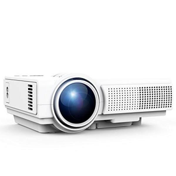 Proyektor, Tenker Proyektor Qini Umens LED Portable Proyektor Film Dukungan 1080 P HDMI USB TF AV VGA, Teater Multimedia Di Rumah Video Proyektor LCD, putih-Intl