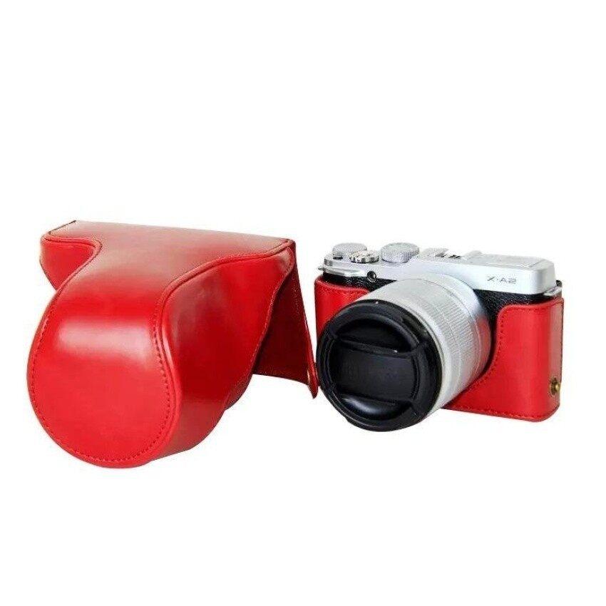 Pelindung Kulit PU Berkualitas Tinggi Tas Kamera Coverforfujifilm XM1 XA1 XA2 (Kamera Tidak Included) merah Sheng HOTT 262-Internasional