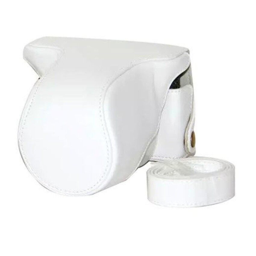 Pelindung Kulit PU Berkualitas Tinggi Tas Kamera Coverforfujifilm XM1 XA1 XA2 (Kamera Tidak Included) putih Sheng HOTT 694-Internasional