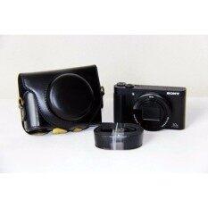 PU Tas Kamera Kulit Kasus Cover Pouch Untuk SONY DSC-HX90V HX90WX500 dengan tali Bahu