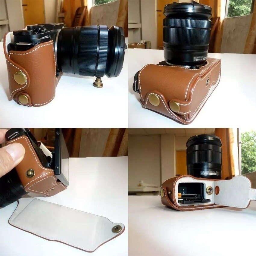PU Kulit Bawah Kamera Setengah Badan Sarung untuk FujifilmFujiXM1X-M1 XA1 XA2 Set Badan Set Kamera Sarung (Internasional) sheng HOTT 145-Internasional