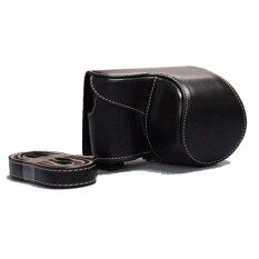PU Kulit Camera Case Bag Cover untuk Sony ILCE-6500 A6500 16-50lens (Hitam)