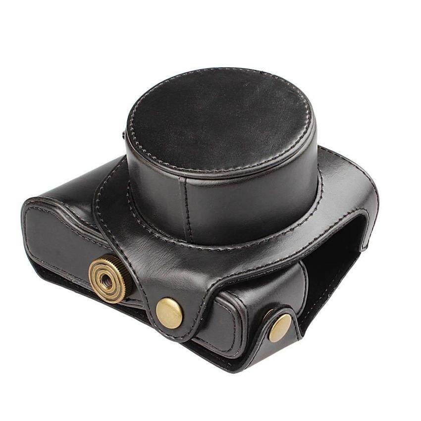Kulit PU Tas untuk Canon PowerShot G1X Menandai II G1X2 G1XII G1X Kasus Kamera Digital-Internasional