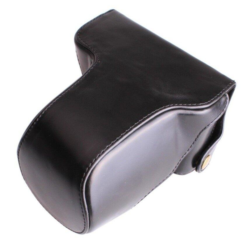 PU Kulit Kamera Kemasan Tas Kamera Sling Tali untuk FujifilmXM1XA1 XA2 XA10 X-M1 X-A1 X-A2 X-A10 16-50 MM Lensa Digital Camerabag Sheng HOTT 734-Internasional