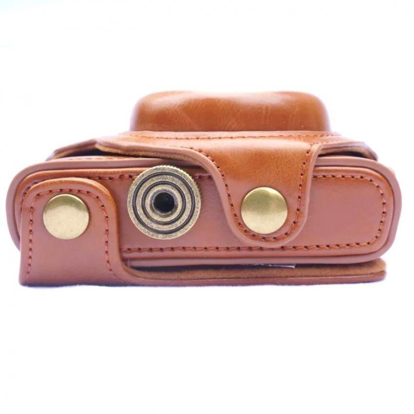 PU Leather Case Cover Pouch Tas Kamera untuk Sony Cyber-shot DSCRX100m4. RX100 IV.RX-100IV.RX 100m4 rx-100M5
