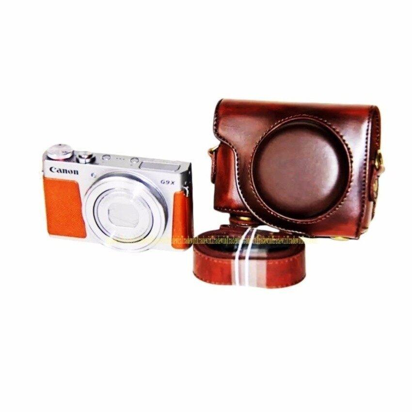 PU Kulit Kasus Tas Kamera Digital untuk Canon G9X PowerShot G9XWithStrap Sheng HOTT 1064-Internasional