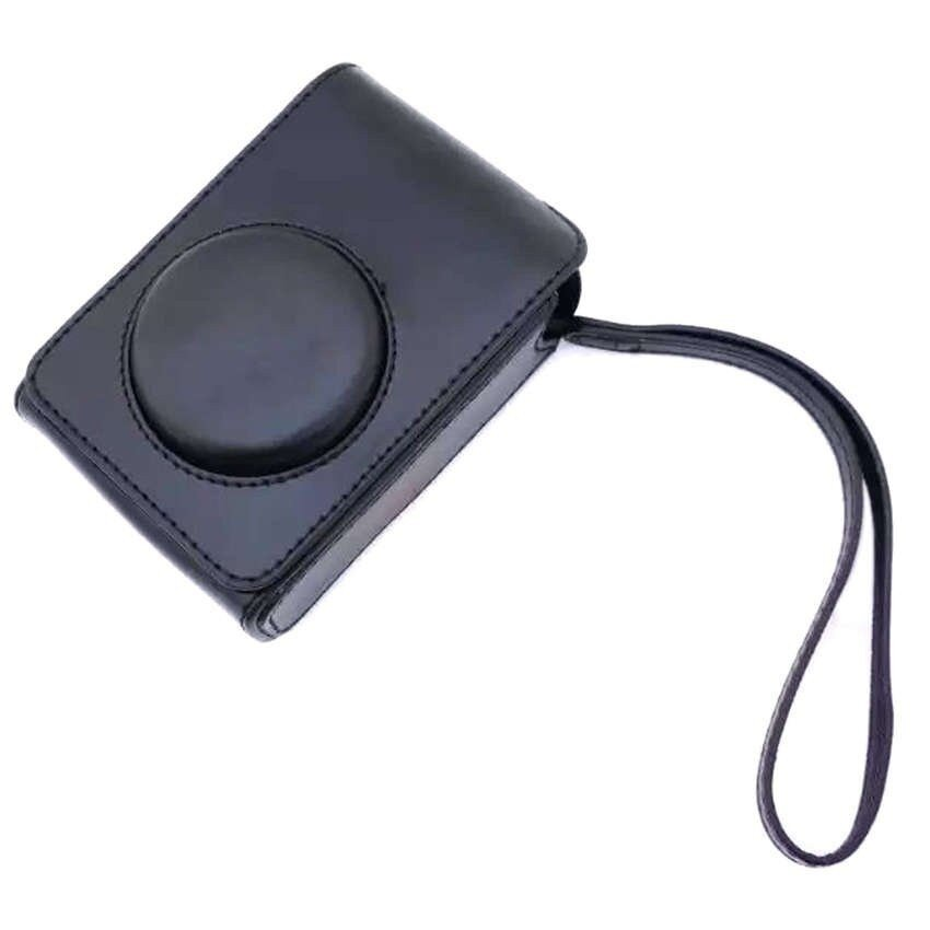 PU Kulit Kasus Digital Kamera Kemasan Tas untuk FujifilmXQ1XQ2XF-1 XF1 Digital Kamera (Hitam) sheng HOTT 619-Internasional