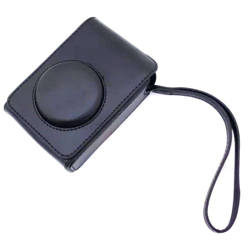 PU Kulit Kasus Digital Kamera Kemasan Tas untuk FujifilmXQ1XQ2XF-1 XF1 Digital Kamera (Hitam) sheng HOTT 639-Internasional