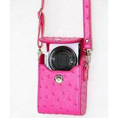 PU Leather Cover Bag for Nikon COOLPIX L28, S31, S32, S33, S3300, S5300, S6100, S6800, S6900, S7000, S8000, S8100, S9100, S9300, S9500, S9700, 9900, P300, P310, P330, P340 Digital Camera (Hot pink)