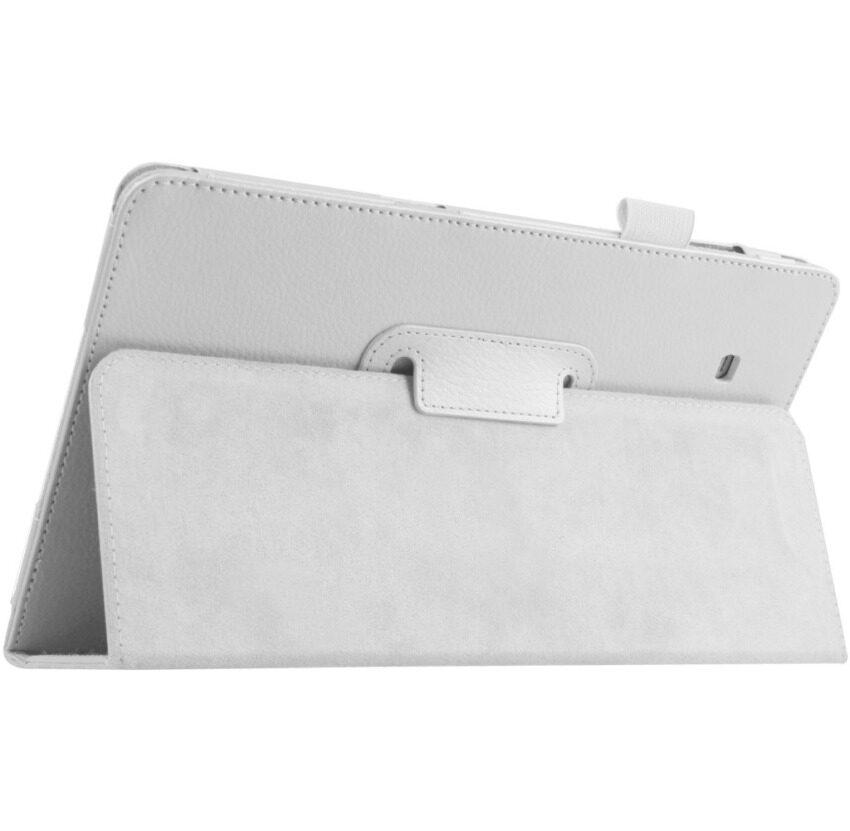 Pu Penutup Berbahan Kulit untuk Samsung Galaxy Tab E 9.6?  X9D T560 T561 (Putih)-Intl