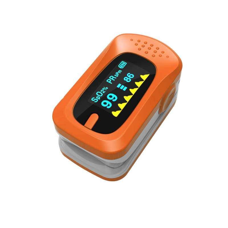 XK-GM Pulse Oximetry Glucose Meter Pulse Measuring Instrument PortableFinger Clip Type Oximeter (Orange)
