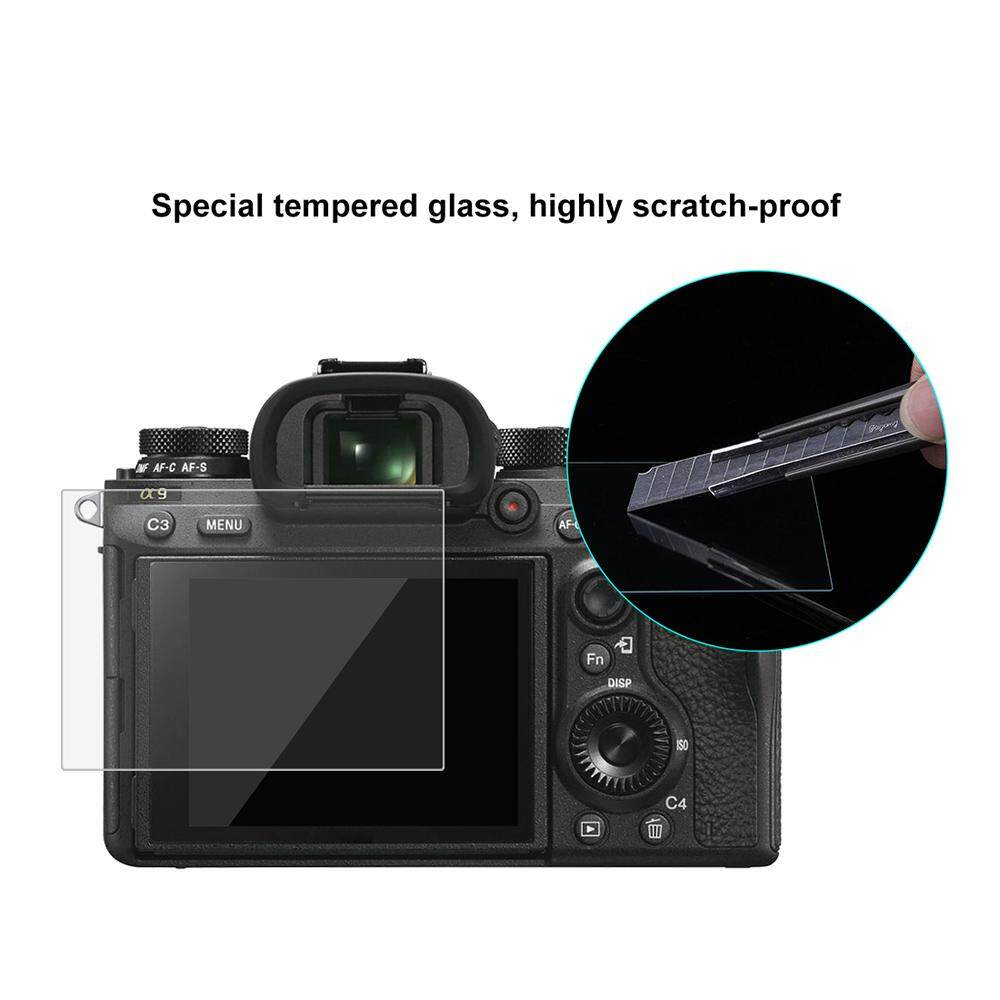 Puluz Layar Kamera Film Protektif Polycarbonate Pelindung Film Anti Gores Kekerasan Kaca Antigores Pelindung Layar untuk Canon Sony Nikon Panasonic FinePix Olympus Digital Camera Aksesoris untuk sony ILCE-9 (A9) -Intl