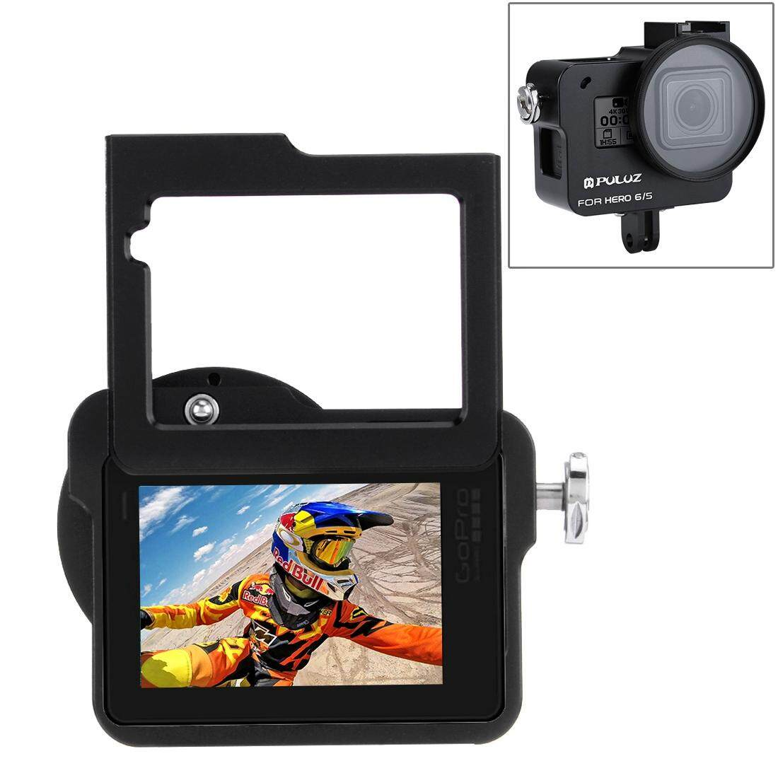 PULUZ for GoPro HERO6 /5 Housing Shell CNC Aluminum Alloy Protective Cage with Insurance Frame and 52mm UV Lens - intl