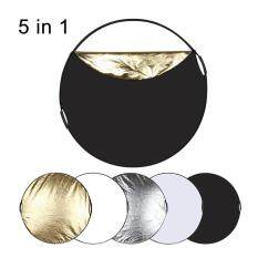 Puluz Pu5110 Photo Reflector 110cm 5 In 1 Multiple Color Collapsible Board Mix Color.