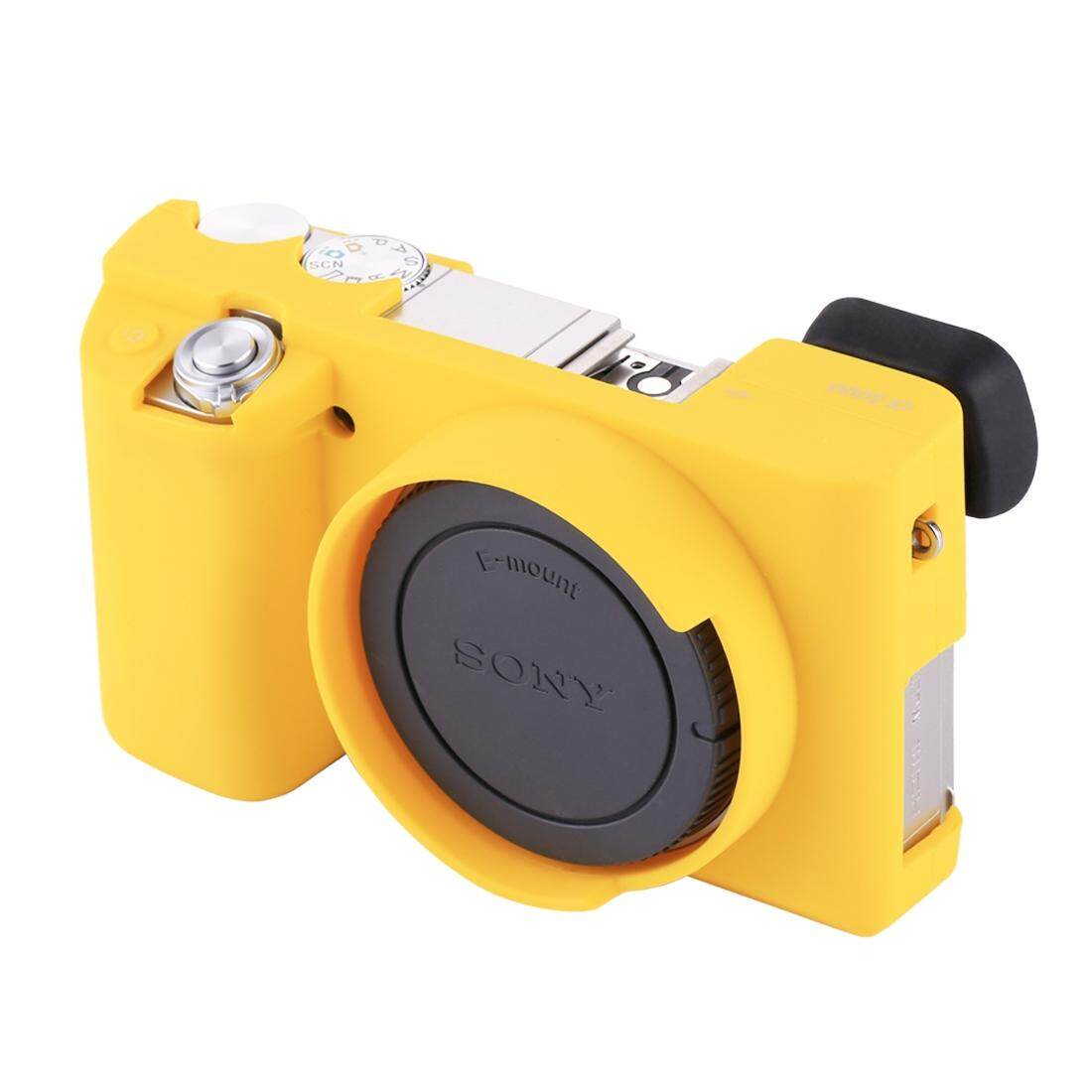 Puluz Casing Silikon Lembut Case untuk Sony ILCE-6000 (Kuning)-Intl