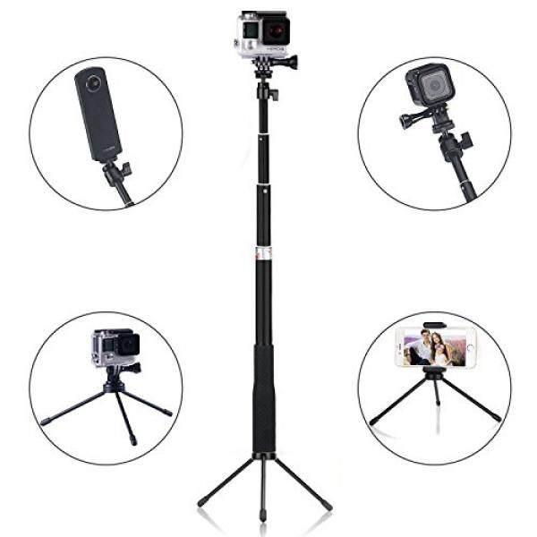 Q1 Verl? ngerbarer Selfie Stick Einbeinstativ F? R GoPro Hero 5/4/3 +/3/2/1/Sesi/F? R Kompakte Kameras Und Smartphone (Innerhalb 14 Cm Keramik) Screem + Mini Stativ St? nder-Intl